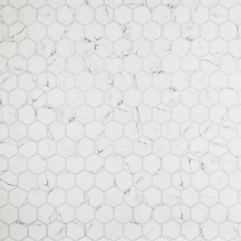 Stone Glass Hexagon Statuario
