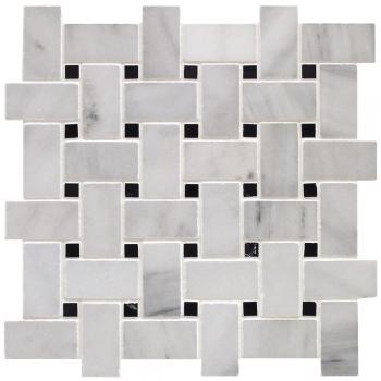 Classic White Avec Insertion Nero Marquina Basketweave