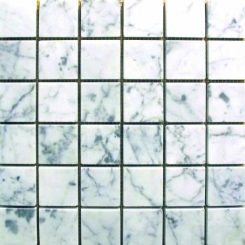 2''x2'' Collection Bianco Carrara Square L Polished