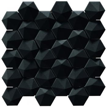 2.5'' 3Dhex Mos. Charcoal Matt