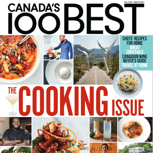 The cooking issue of Canada's 100 best magazine
